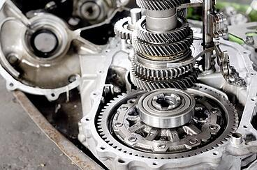Disassembled transmission before rebuild
