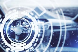 Scientific graphics show EPS steering wheel technology