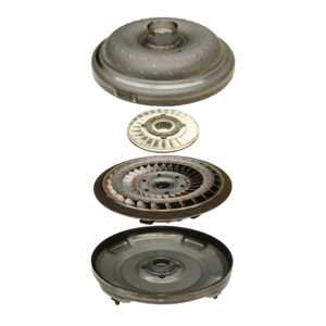 Concave clutch torque converter in expanded view