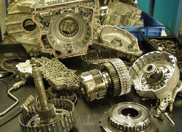 Disassembled Transmission Unit